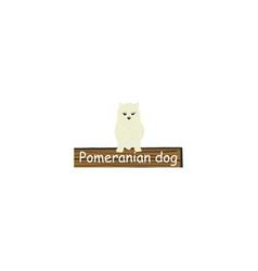 Pomeranian cartoon dog icon vector