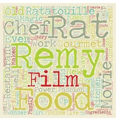 Ratatouille Movie Review text background wordcloud vector image vector image