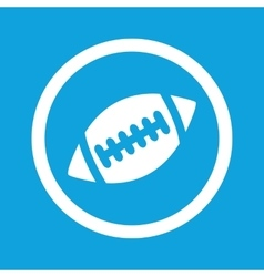 Rugby sign icon vector