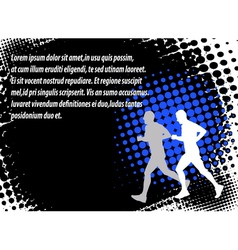 runners halftone background vector image