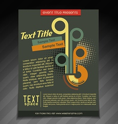Stylish retro brochure design vector