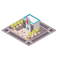 theatre isometric illsutration vector image vector image