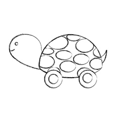turtle baby cute icon vector image