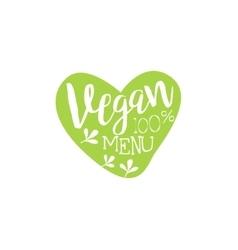 Vegan Calligraphic Cafe Board vector image