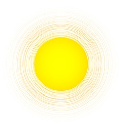 Yellow round background vector image vector image