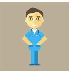 Male nurse with stethoscope vector