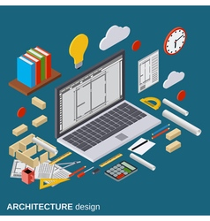 Architecture planning interior project concept vector