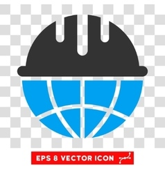 Global Safety Helmet Eps Icon vector image