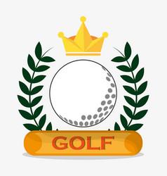 Golf ball crown label emblem vector