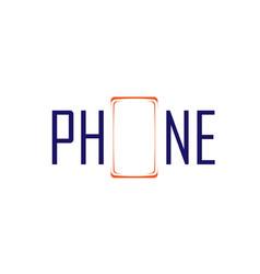phone symbol and logo vector image