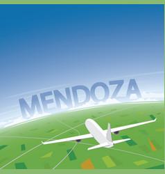 Mendoza flight destination vector