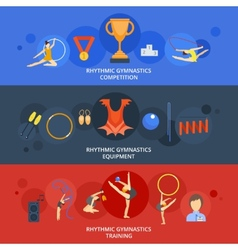 Gymnastics banner set vector