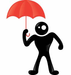 man rain icon vector image
