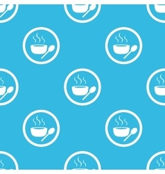 Hot soup sign blue pattern vector
