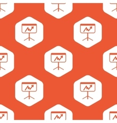 Orange hexagon graphic presentation pattern vector