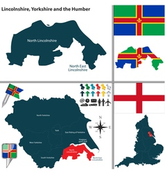 Lincolnshire yorkshire and the humber vector