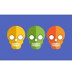 Skulls for Halloween vector image