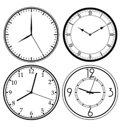 Wall clock template vector
