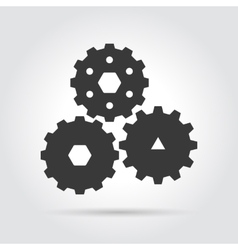 Gear simple icon vector