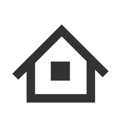 Black home icon vector