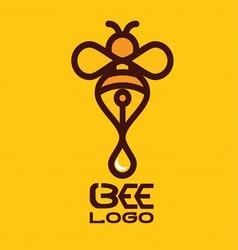 Bee logo 6 vector
