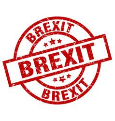 Brexit round red grunge stamp vector