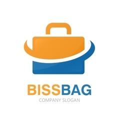 briefcase logo design vector image