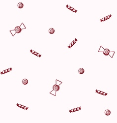 Candy seamless pattern vector image vector image
