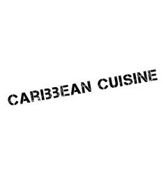 Caribbean cuisine rubber stamp vector