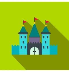Castle flat icon vector