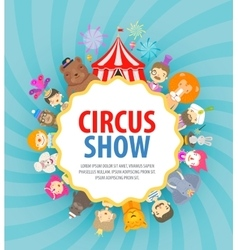 Circus logo design template festival or vector