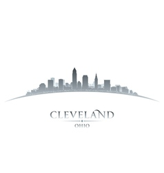 Cleveland ohio city skyline silhouette vector
