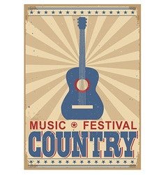 Country music festival background with text vector image vector image