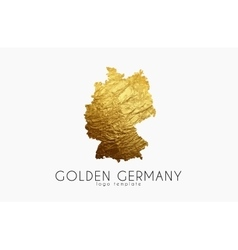 Germany map Golden Germany logo Creative Germany vector image vector image