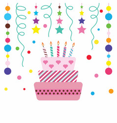 Happy cake on white background vector