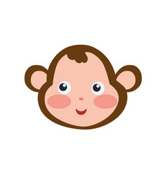Monkey cartoon drawing head vector