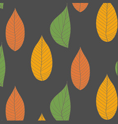 Organic wallpaper with a pattern of green leaves vector