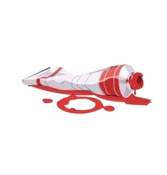 Paint tube red vector