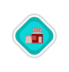 paper sticker on white background shop package vector image