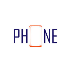 phone symbol and logo vector image