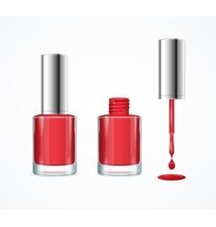 Red nail polish vector