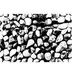Sea stones background black and white vector