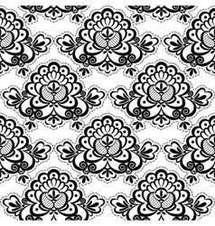 seamless lace floral vector image vector image