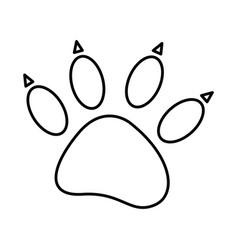 sketch silhouette dog footprint icon vector image vector image