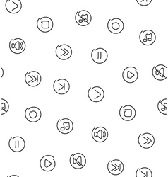 Sound multimedia seamless pattern vector image vector image
