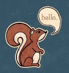 Squirrel drawing vector image vector image