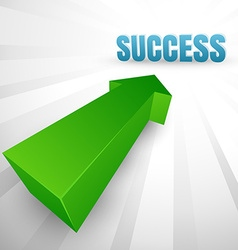 Success arrow vector image vector image