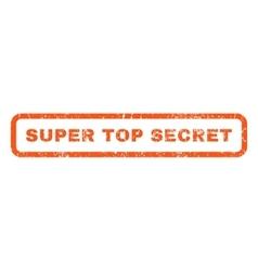 Super top secret rubber stamp vector