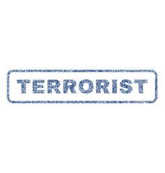 Terrorist textile stamp vector