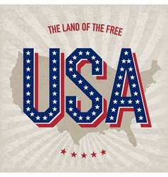 usa abstract poster design vector image vector image